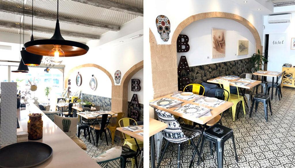 Details der Dekoration eines Restaurants am Strand von Arenal - Javea Houses Inmobiliaria