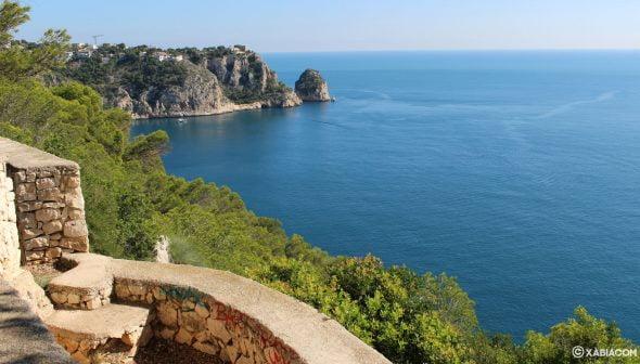 Imagen: Vista desde el mirador Castell de la Granadella hacia el mirador de Ambolo