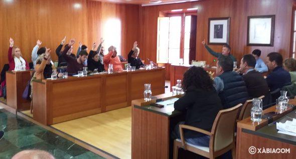 Imagen: Votación de la ratificación del decreto de alcaldía en el pleno