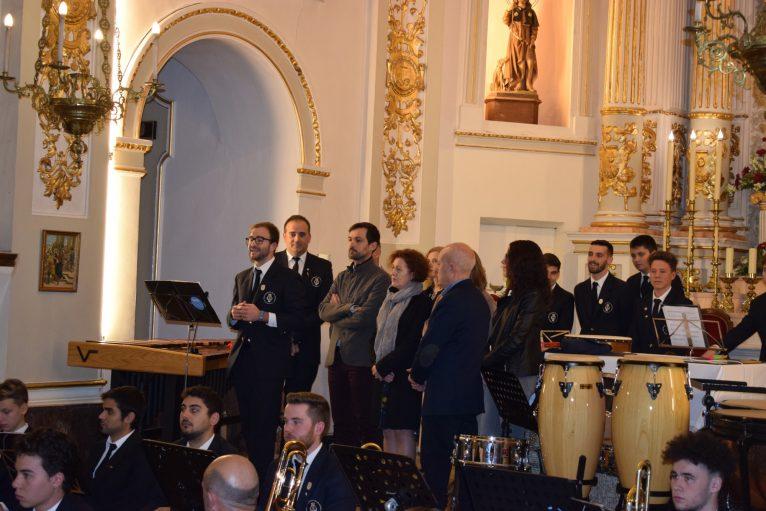 Autoridades en el concierto de Santa Cecilia