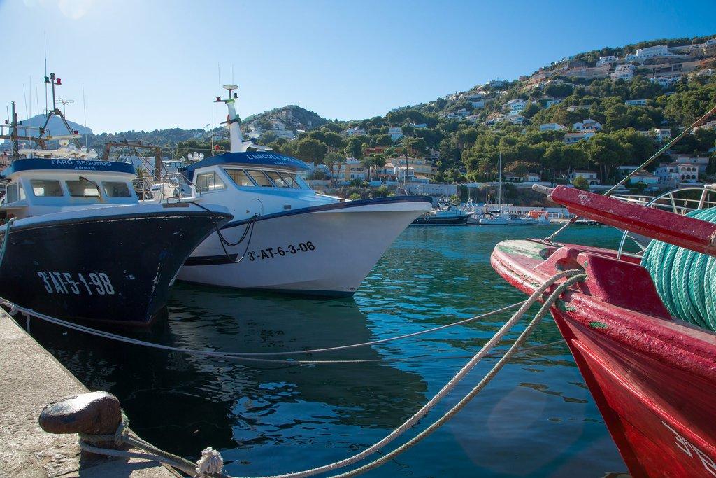 Barcos de Pesca en el Puerto de Xàbia