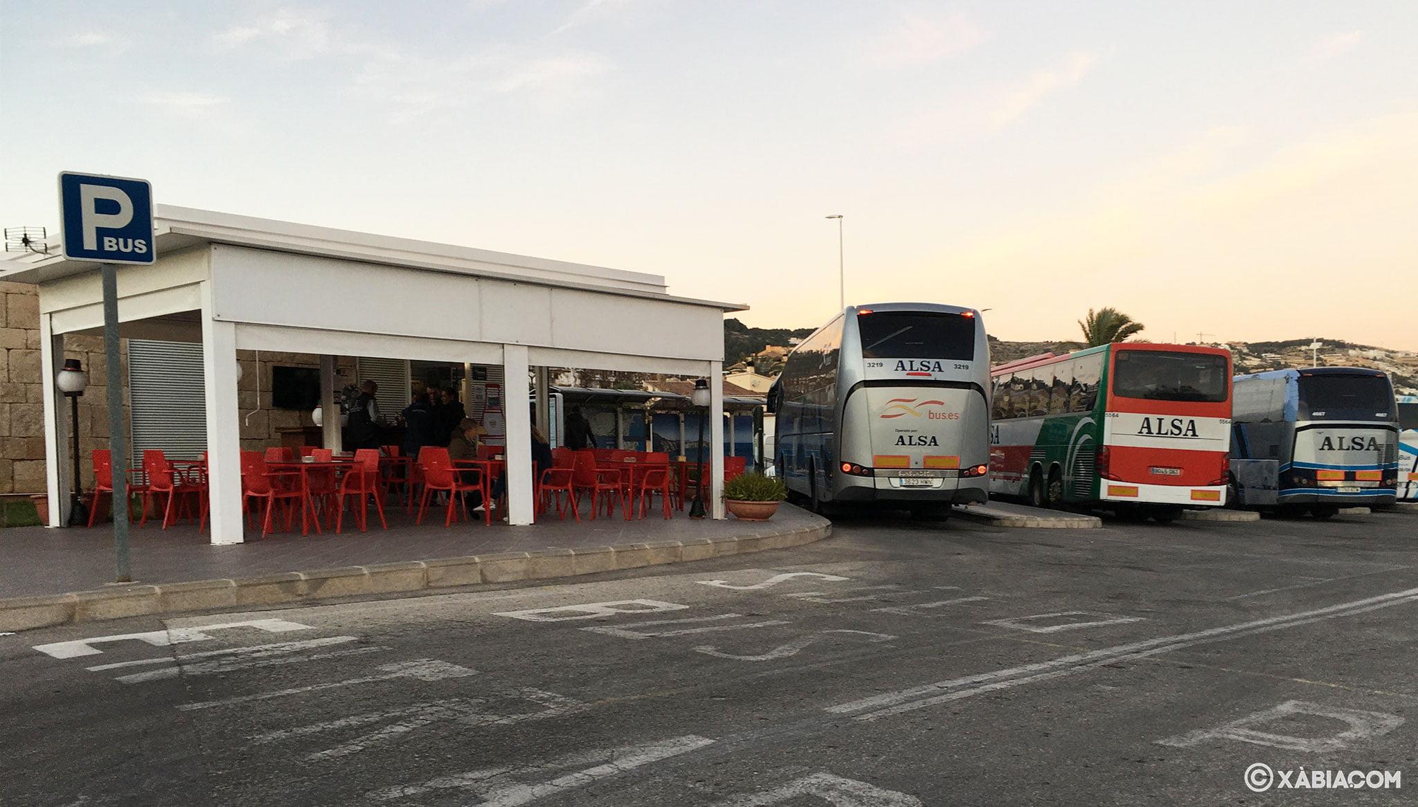 Cafetería que da servicio a la estación de autobuses de Jávea