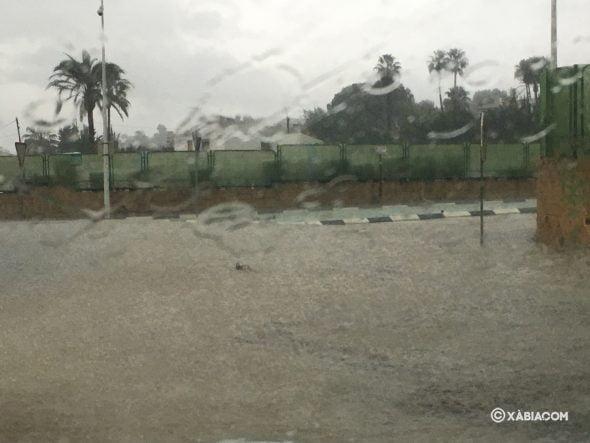 Imagen: Calle inundada en Xàbia