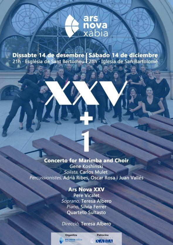 Imagen: Cartel del Concierto de Ars Nova XVV+1
