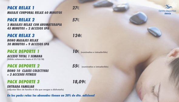 Afbeelding: Dénia Sports Center - Relaxpakketten met massages en sportpakketten