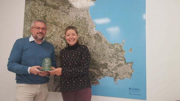 Изображение: вручение награды за зеленый флаг для Xàbia