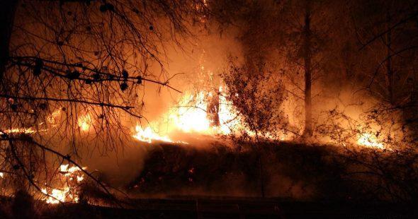 Imagen: Foto de archivo de un incendio de Xàbia