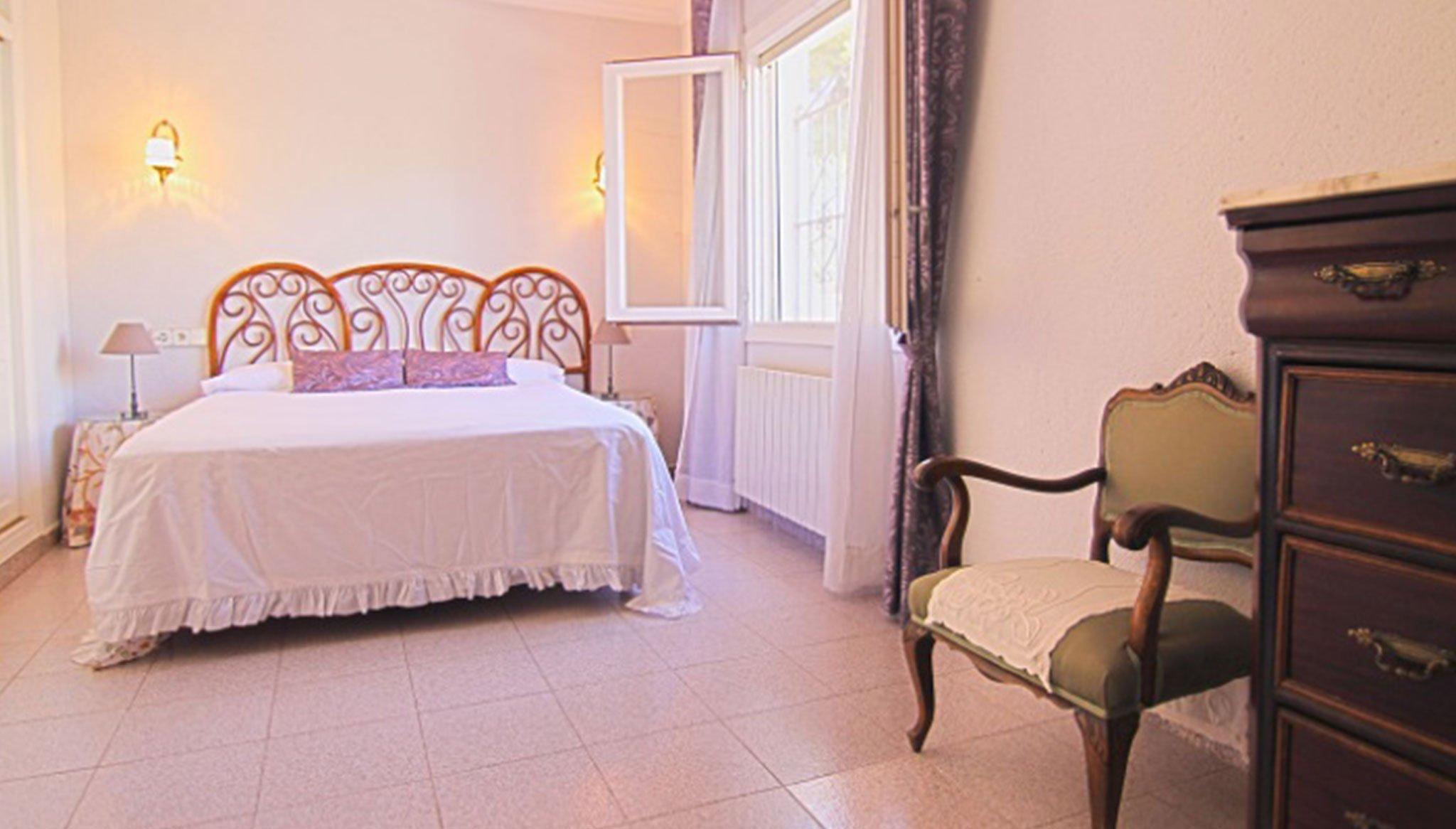 Hauptschlafzimmer in einer Villa zum Verkauf in Jávea - MORAGUESPONS Mediterranean Houses