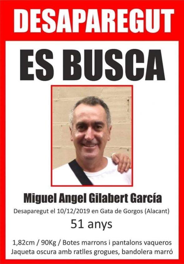 Imagen: Hombre desaparecido en Gata