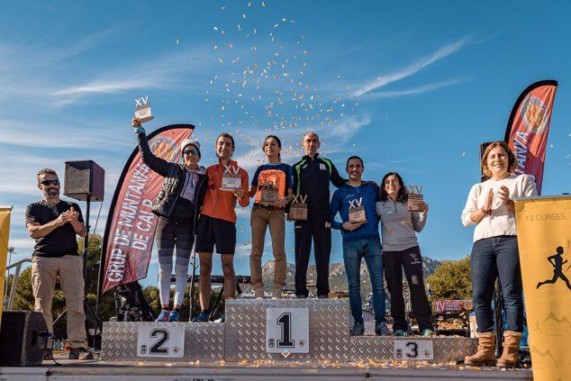 Imagen: Los ganadores de la prueba en el podio