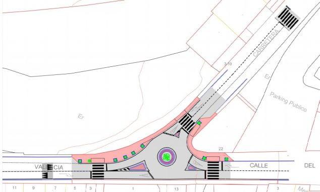 Imagen: Mapa de la rotonda en la Avenida Valencia