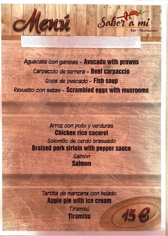 Image: Menu for companies - Sabor a mi Restaurant