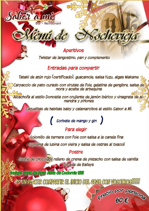 Immagine: Menu di Capodanno al ristorante Sabor a mi