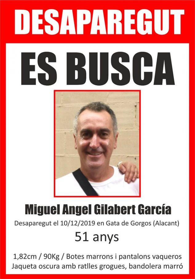 Image: Miguel Ángel Gilabert, disparu