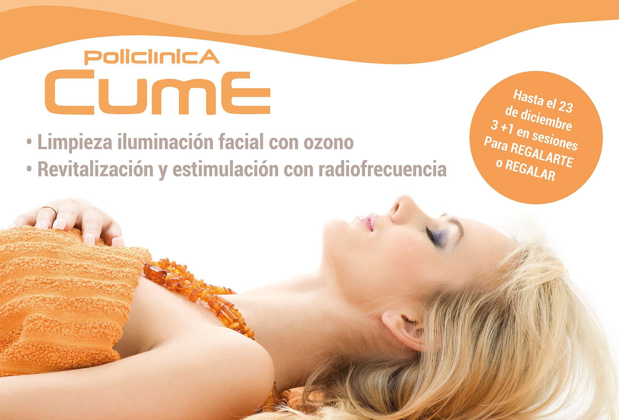 Policlínica CUME - Tractaments facials amb ozó i revitalitzants