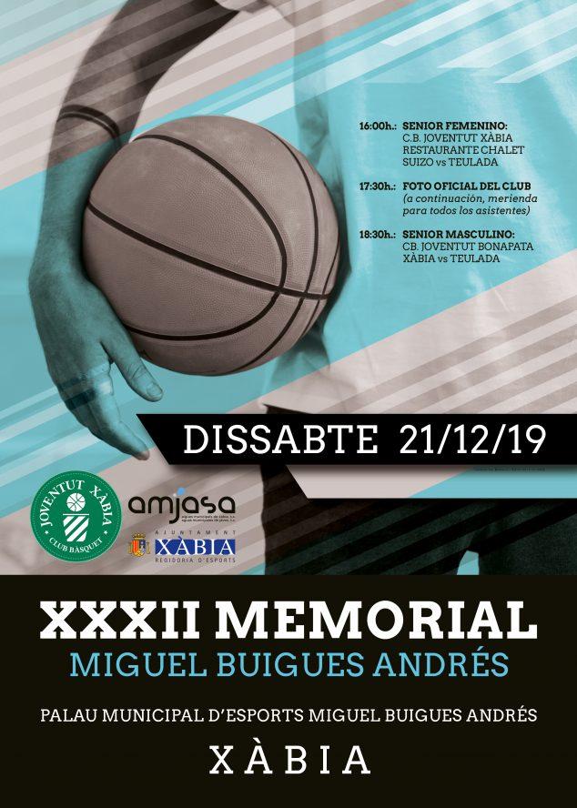 Imagen: Poster Memorial Miguel Buigues -Basquet Xàbia 2019