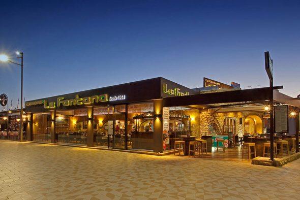 Image: Facade of La Fontana Restaurant