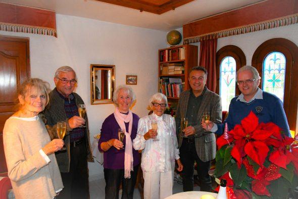 Imagen: Rosa María Schaller en su 106 cumpleaños