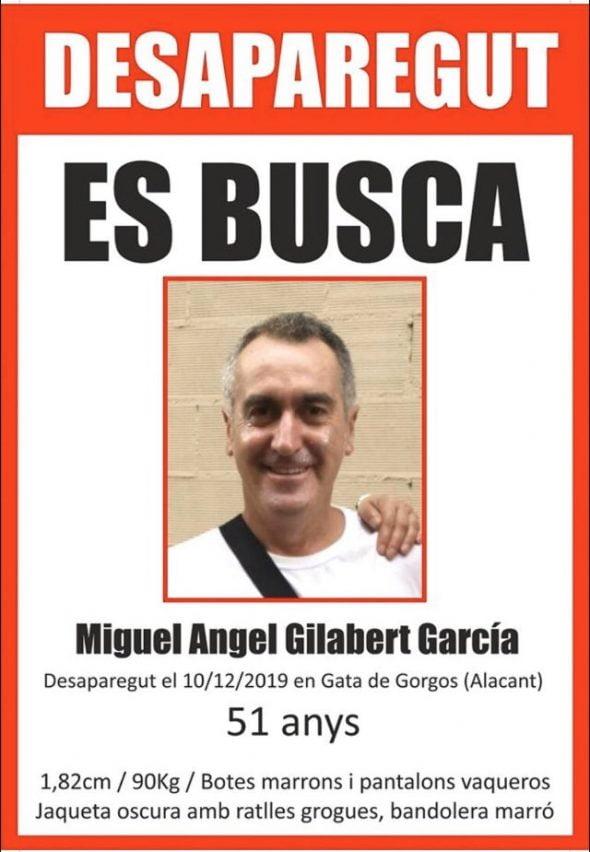 Imagen: Vecino de Gata de Gorgos desaparecido