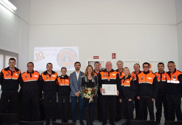 Imagen: Voluntarios de Protección Civil Poble Nou de Benitatxell con los ediles