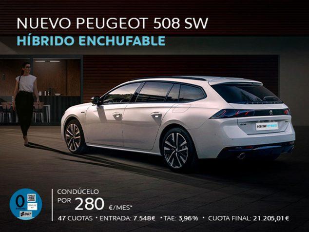 Imagen: Peugeot 508 híbrido enchufable - Peumóvil
