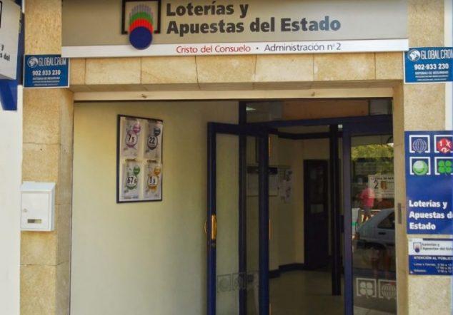 Imagen: Administración de lotería donde se ha vendido el boleto