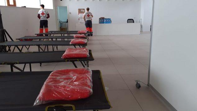 Imagen: Albergue habilitado por Cruz Roja