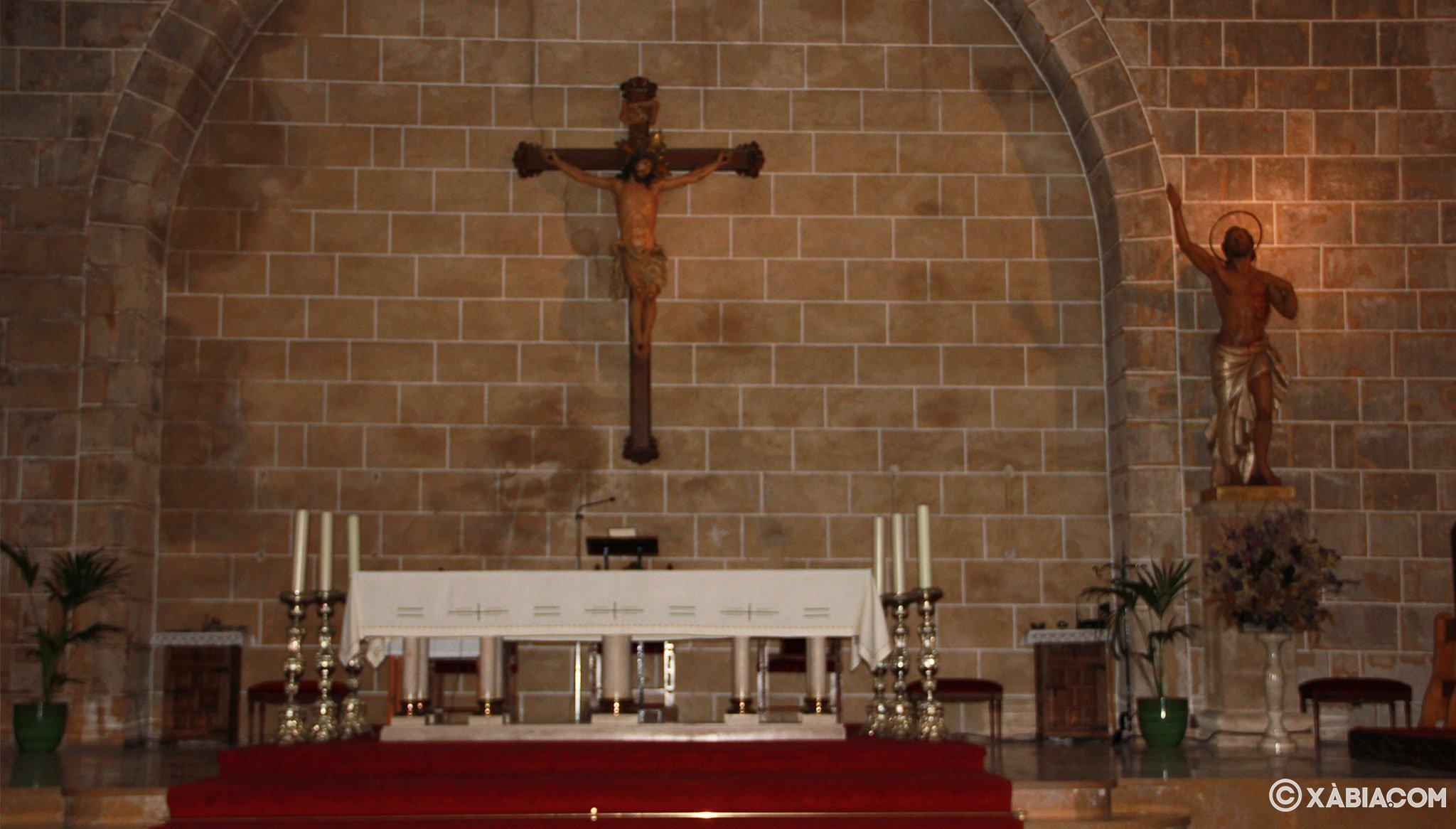 Altar de la Iglesia de San Bartolomé de Jávea