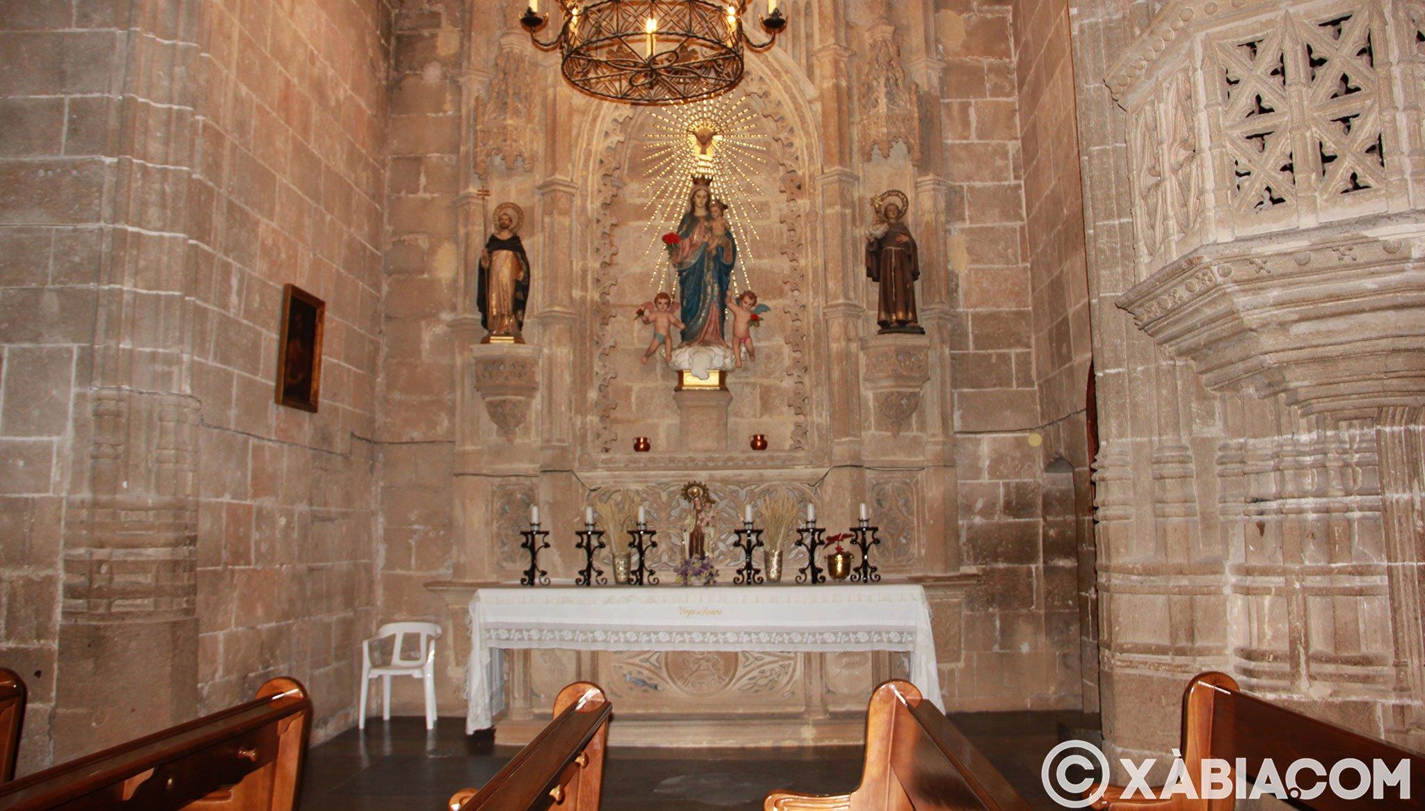 Capilla lateral en la Iglesia de San Bartolomé de Jávea