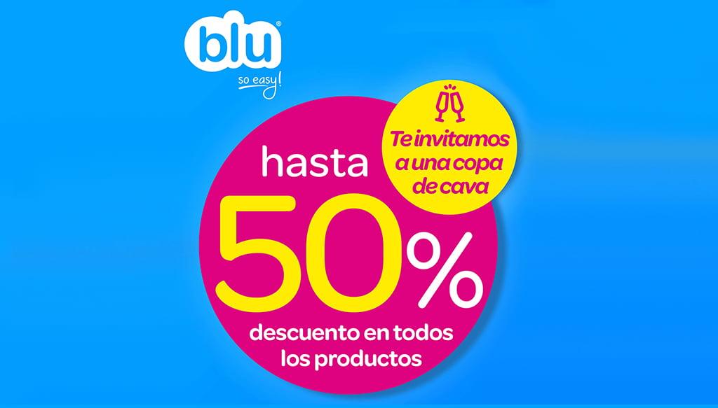 Oferta Blu descuentos 50%