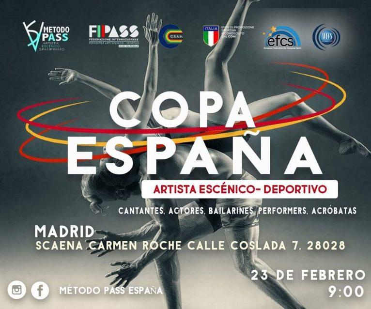Cartel de la Copa de España a la que se presenta la Dance Academy by Miguel Ángel Bolo - Centro Deportivo Dénia