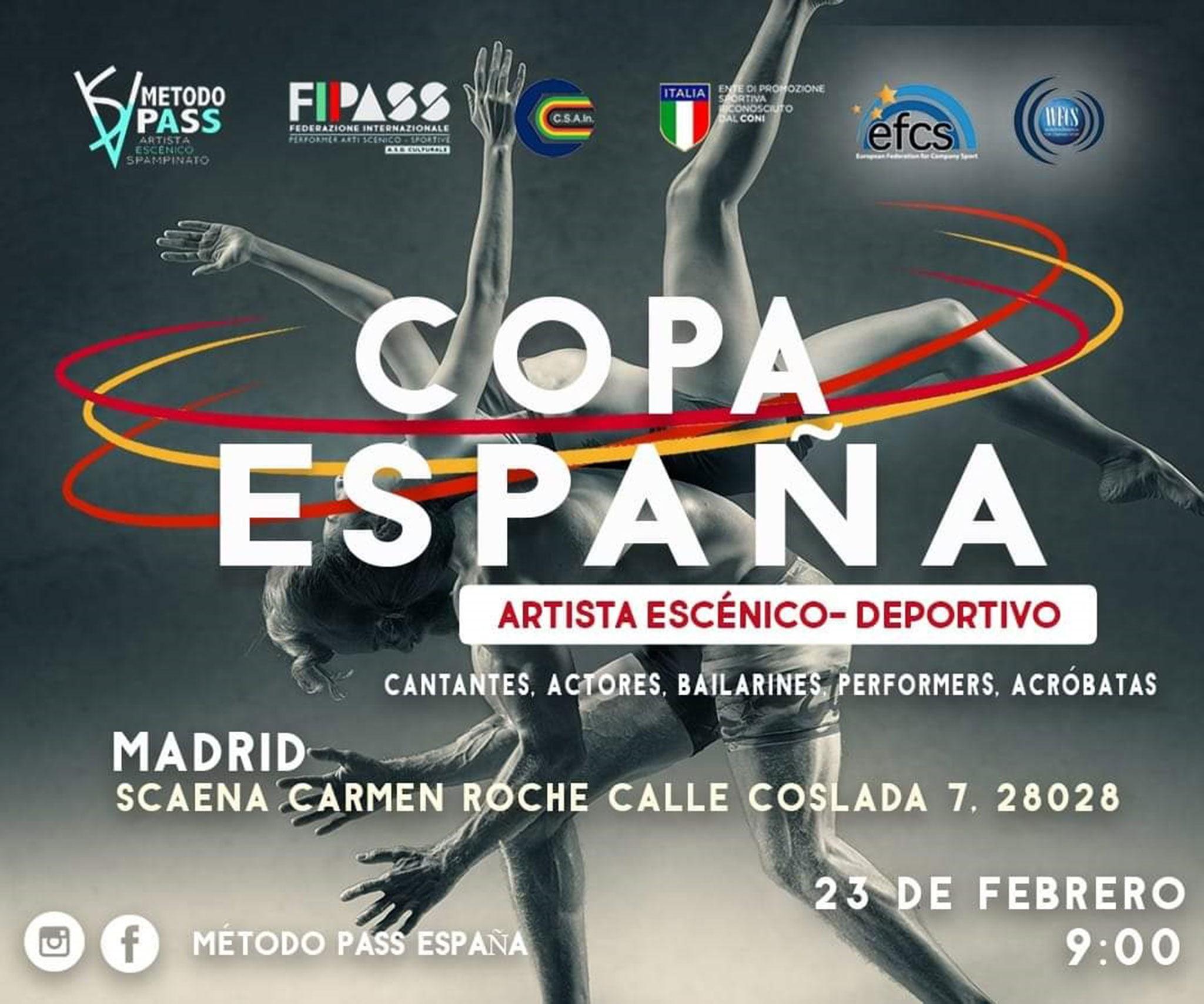 Cartel de la Copa de España a la que se presenta la Dance Academy by Miguel Ángel Bolo – Centro Deportivo Dénia