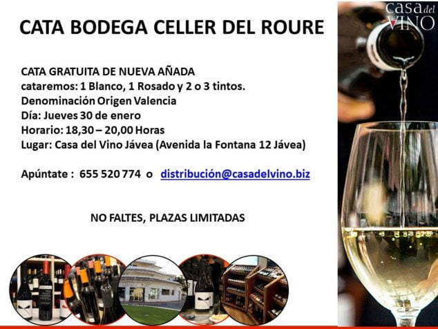 Image: Informative poster about the wine tasting organized by Casa del Vino
