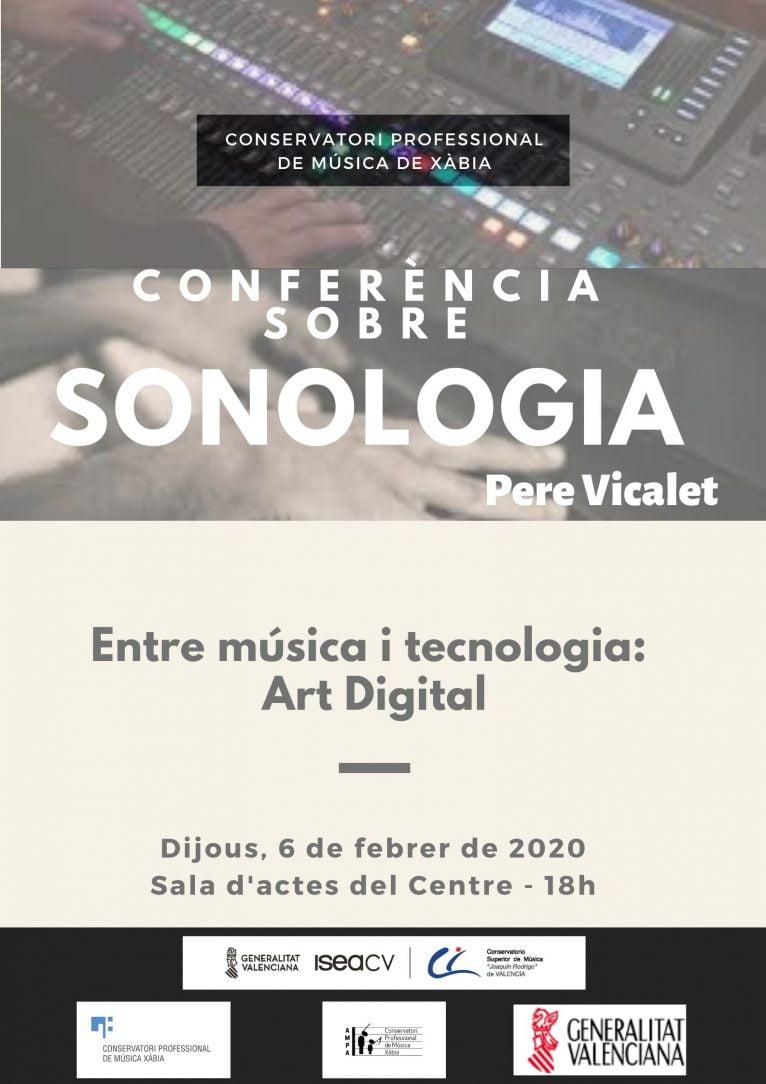 Cartel conferencia sobre música