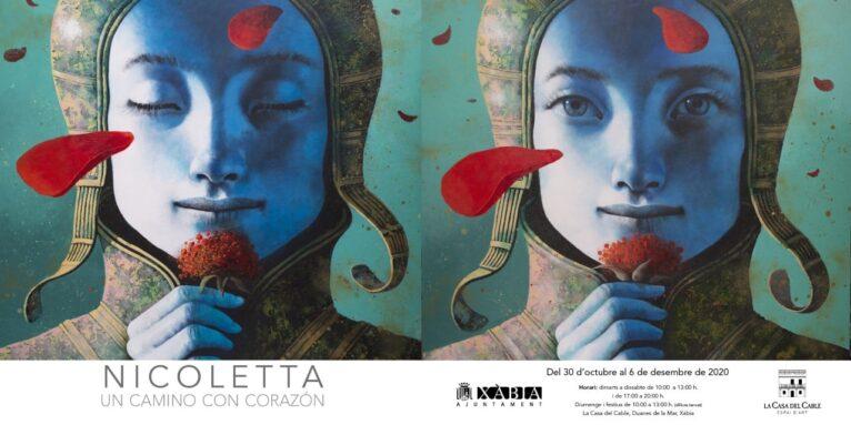 Cartel de la exposición de Nicoletta