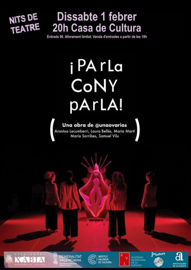 Imagen: Cartel de la obra, 'Parla cony, parla'