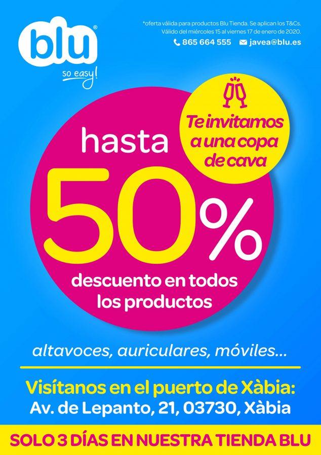 Imagen: Oferta de un 50% de descuento en Blu