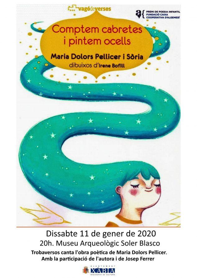 Afbeelding: posterpresentatie van de gedichten van María Dolors Pellicer