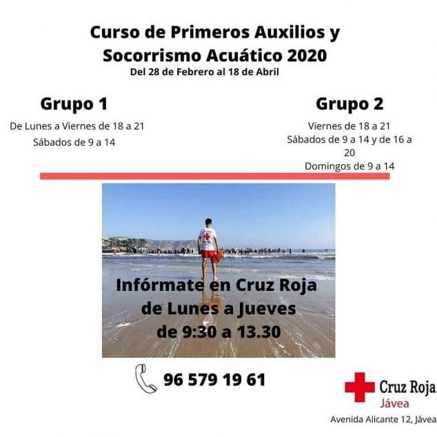 Imagen: Curso de Socorrista y primeros auxilios de Cruz Roja Jávea