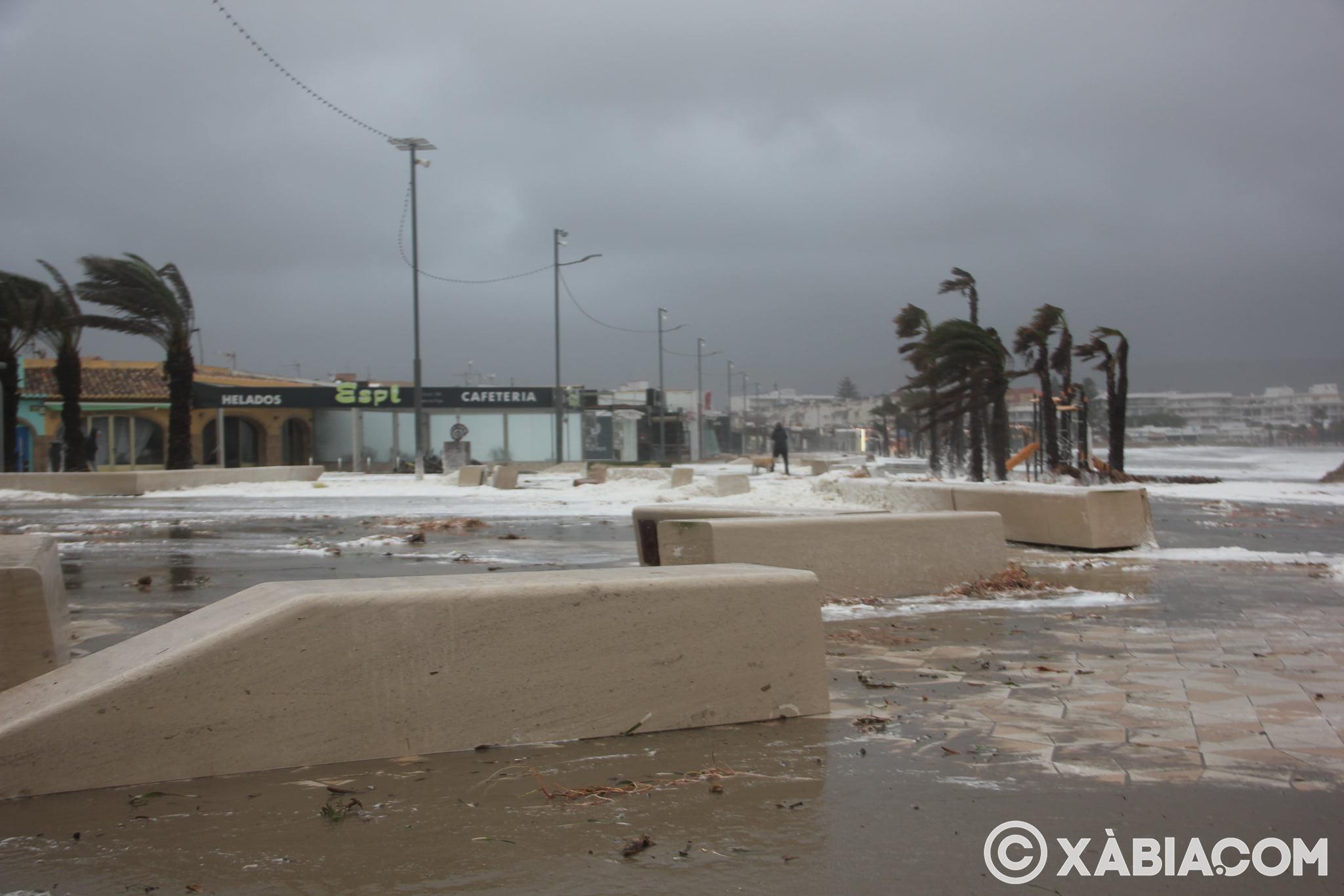 Pluie, vent et tempête de mer déchiquetés à Xàbia (26)