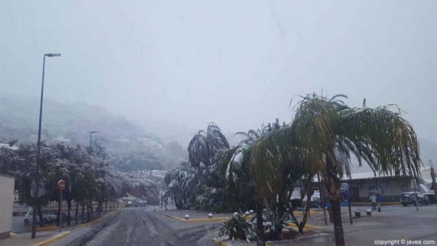 Imagen: Día de lluvia y nieve en Xàbia en 2017