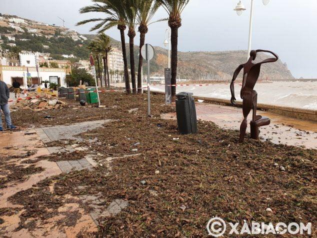 Imagen: Estado del Paseo Marítimo de Xàbia
