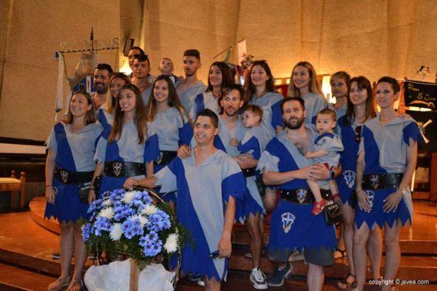 Imagen: Filà Faciners en el ofrenda a Sant Jaume 2019