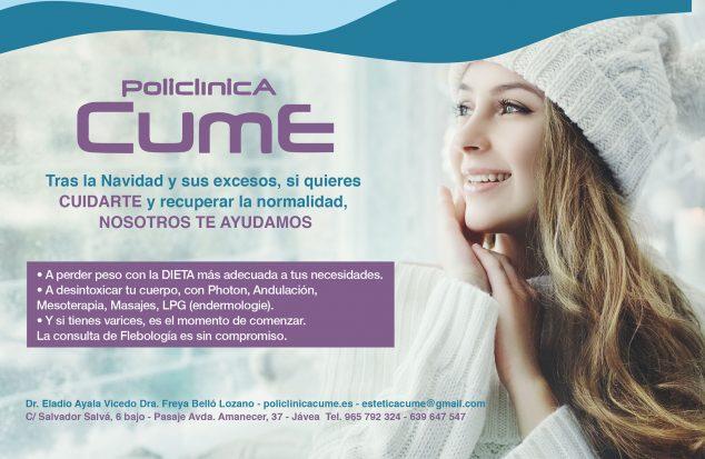 Image: Flyer Polyclinique CUME Janvier 2020: ils vous aident à revenir à la normale après Noël