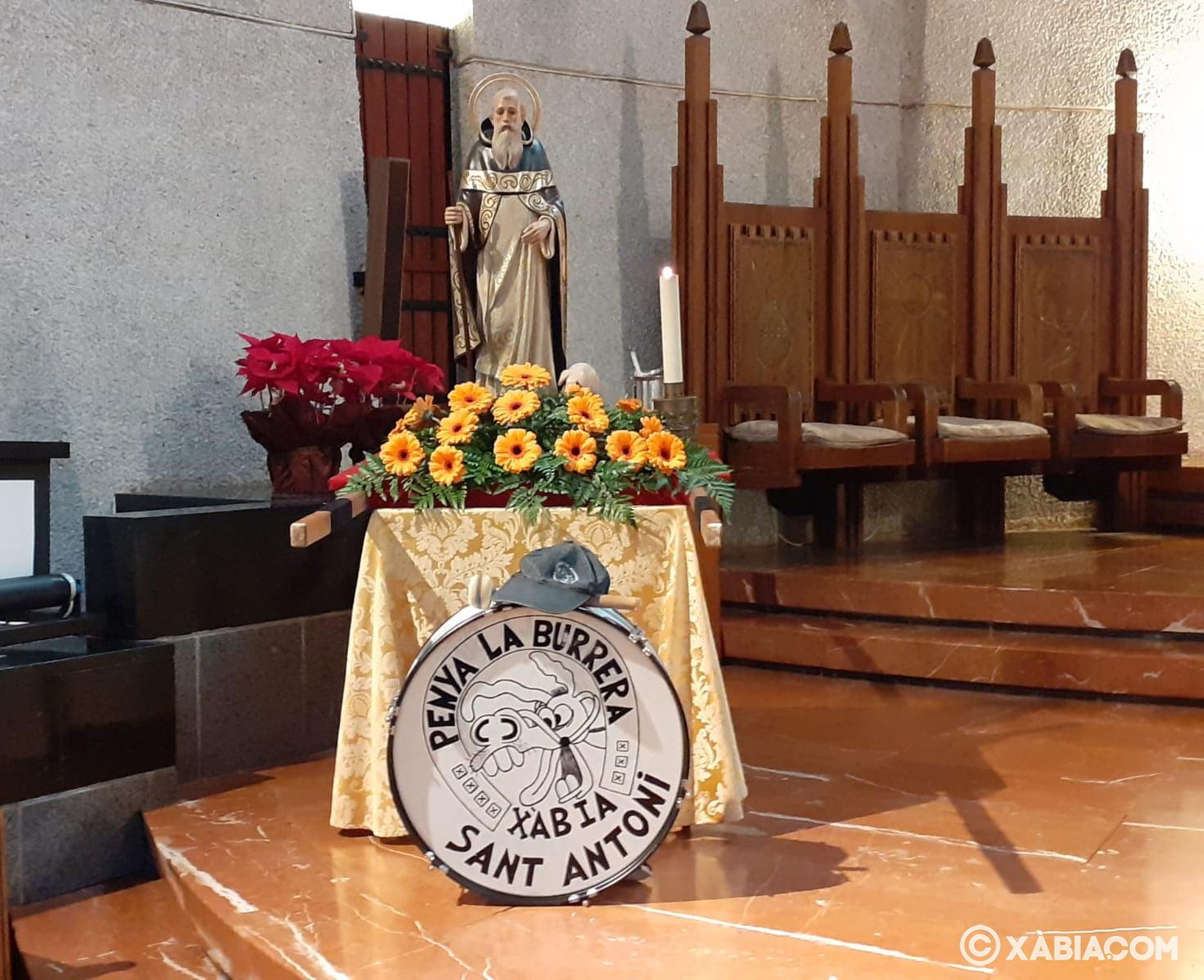 Imatge de Sant Antoni a la Parròquia Mare de Déu de Loreto