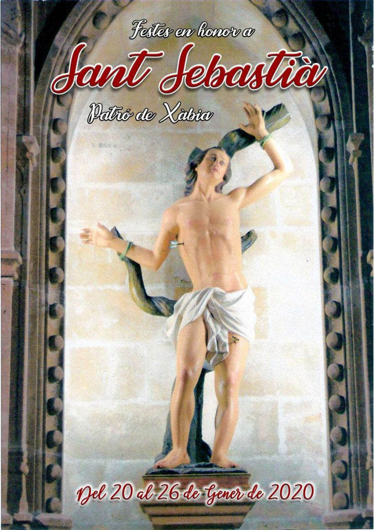 Imagem de Sant Sebastià, padroeiro de Xàbia