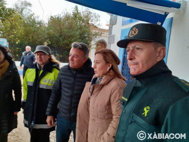 Imagen: La subdelegada del Gobierno visita a Xàbia por el tempora Gloria
