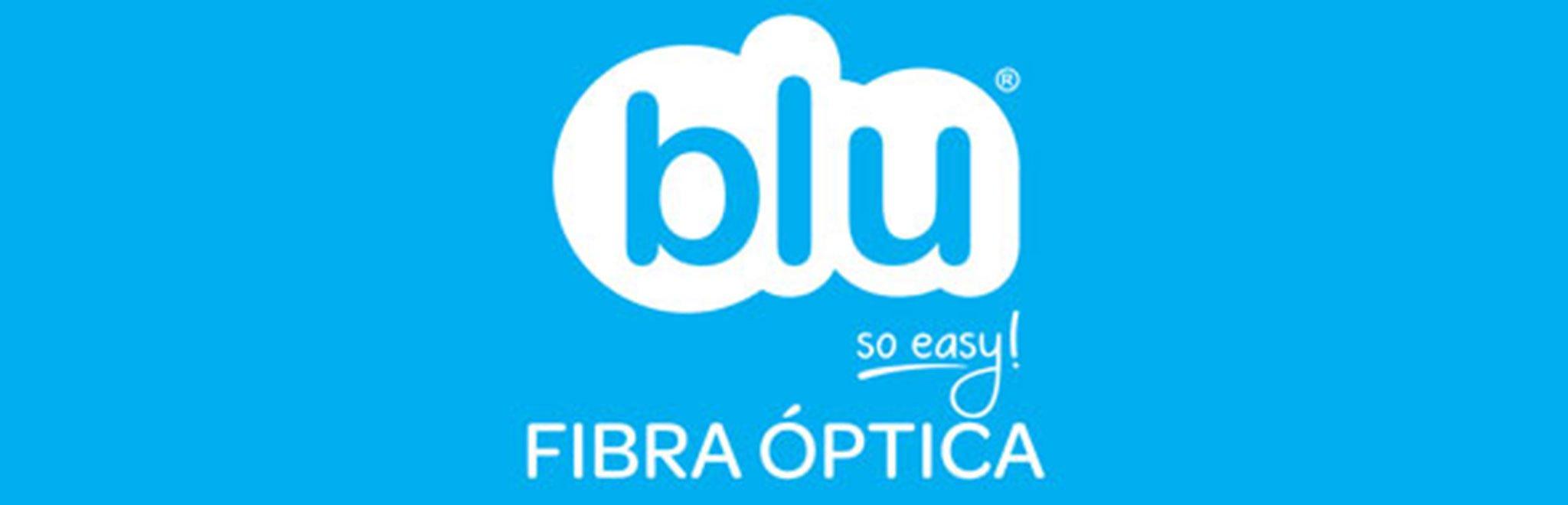 Logotipo de Blu, operador de telefonía móvil, Internet y televisión en Jávea