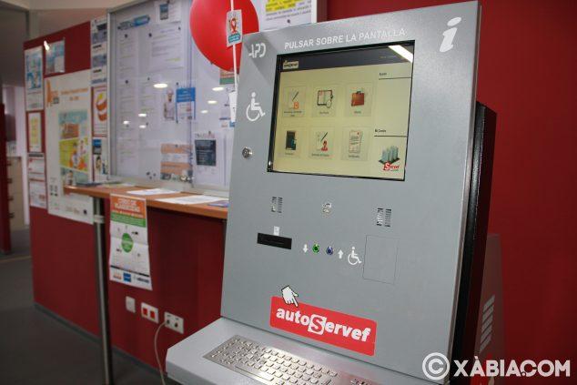 Imatge: Màquina per a gestions en Labora instal·lada a Creama Xàbia