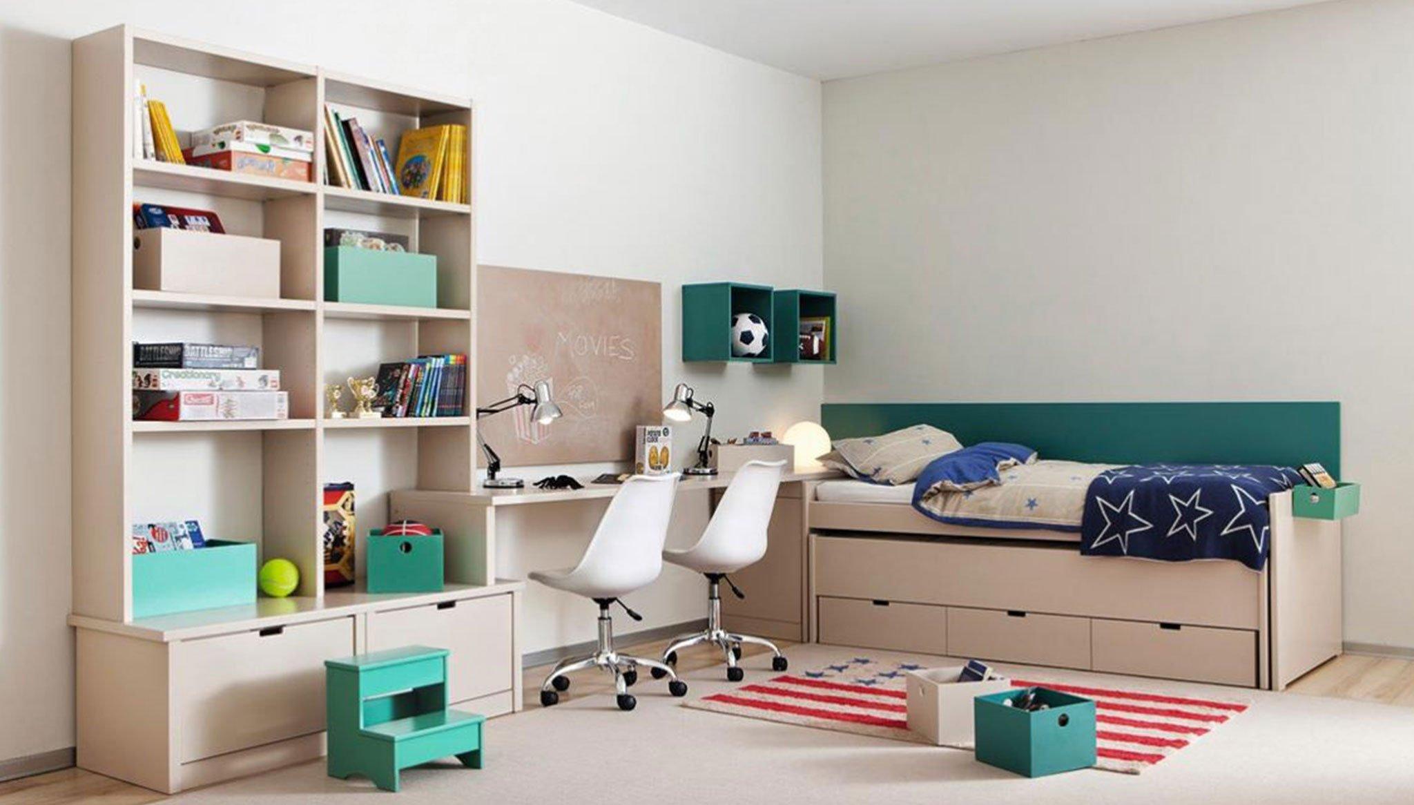 Muebles juveniles con capacidad de almacenamiento – Muebles Martínez